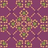 与花卉主题的无缝的纹理 免版税库存照片
