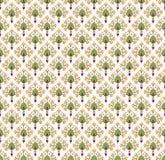 与花卉主题的无缝的纹理 库存照片