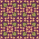 与花卉主题的无缝的纹理 免版税库存图片