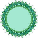 与花卉伊斯兰教的装饰品样式的坛场设计 免版税库存照片