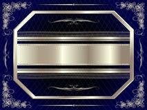 与花卉元素8的银色框架 皇族释放例证