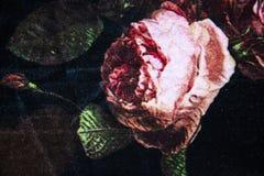 与花卉抽象样式的针织品织品 免版税图库摄影