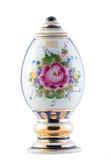 与花卉样式的陶瓷鸡蛋 库存图片