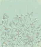 与花卉模式的墙纸 免版税库存照片