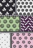 与花卉模式的织品 图库摄影
