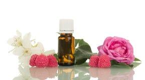 与花卉气味的液体抽烟,花和莓果的 库存照片