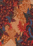 与花卉蜡染布样式的Coton织品 免版税库存图片