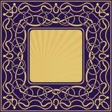 与花卉装饰物的金框架 皇族释放例证