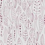 与花卉要素的无缝的纹理 叶子样式 免版税库存照片