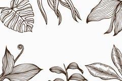 与花叶子的方形的海报 免版税库存图片