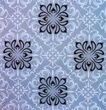 与花和几何设计的无缝的背景 库存图片