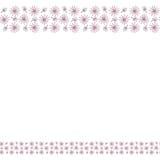 与花和叶子的逗人喜爱的背景边界框架 库存例证