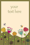 与花和蝴蝶的框架 库存图片