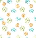 与花和蝴蝶,高雅样式的无缝的纹理 免版税库存照片