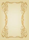 与花婚礼诗歌选的邀请卡片在艺术nouveau样式 免版税库存图片