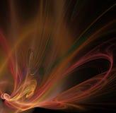 与花或蝴蝶纹理的抽象分数维背景 免版税图库摄影