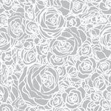 与花玫瑰的无缝的模式 免版税库存照片