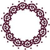 与花瓣的逗人喜爱的背景圈子边界框架 皇族释放例证