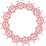 与花瓣的逗人喜爱的背景圈子边界框架 向量例证