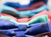 与花的五颜六色的蝶形领结 免版税图库摄影