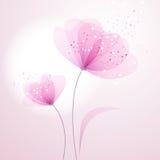 与花的向量背景 库存例证