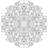 与花的坛场和您的设计和儿童的创造性的几何形状 向量例证