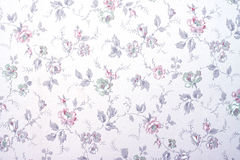 与花的墙纸 免版税库存照片
