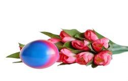 与花的复活节彩蛋 库存图片