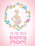 与花的愉快的母亲节 库存照片