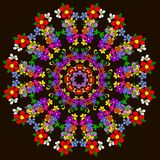 与花的抽象坛场 库存例证