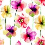 与花的无缝的样式 免版税库存照片