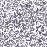 与花的无缝的纹理 免版税图库摄影