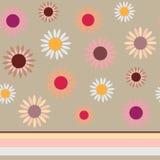 与花的无缝的纹理 向量例证