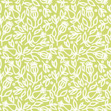 与花的无缝的绿色背景 免版税库存照片