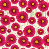 与花的无缝的美好的轻的背景, 图库摄影
