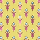 与花的时髦背景在平的设计 免版税库存图片