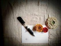 与花的明信片 库存图片