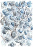 与花的春天树 免版税图库摄影