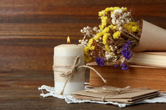 与花的构成 免版税库存图片