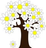 与花的树 免版税库存图片