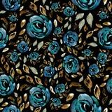 与花的样式,水彩,纹理,纺织品 免版税图库摄影