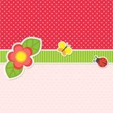 与花的框架 免版税库存图片
