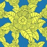 与花的模式 免版税库存图片