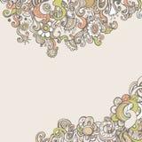 与花的浪漫文本的背景和空间 免版税库存照片