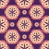 与花的瓦片样式 免版税库存照片