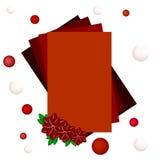 与花的红色框架 免版税库存照片