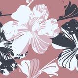 与花的美好的无缝的样式 免版税库存照片