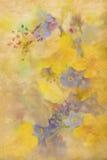 与花的背景 免版税图库摄影