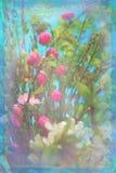 与花的背景 免版税库存图片