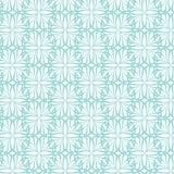 与花的蓝色背景 免版税图库摄影